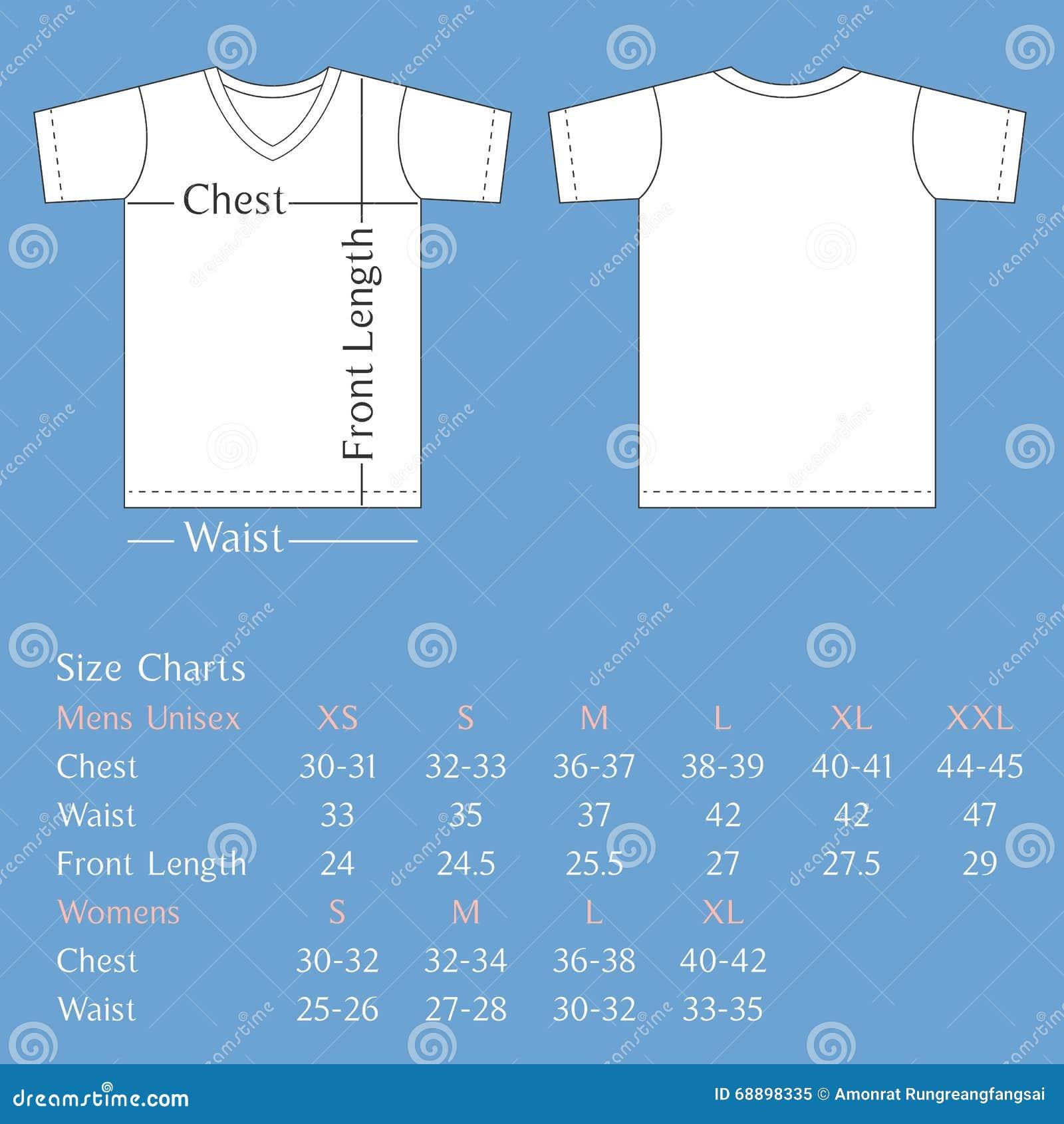full size t shirt template - parte posterior y frente de la plantilla de la camiseta