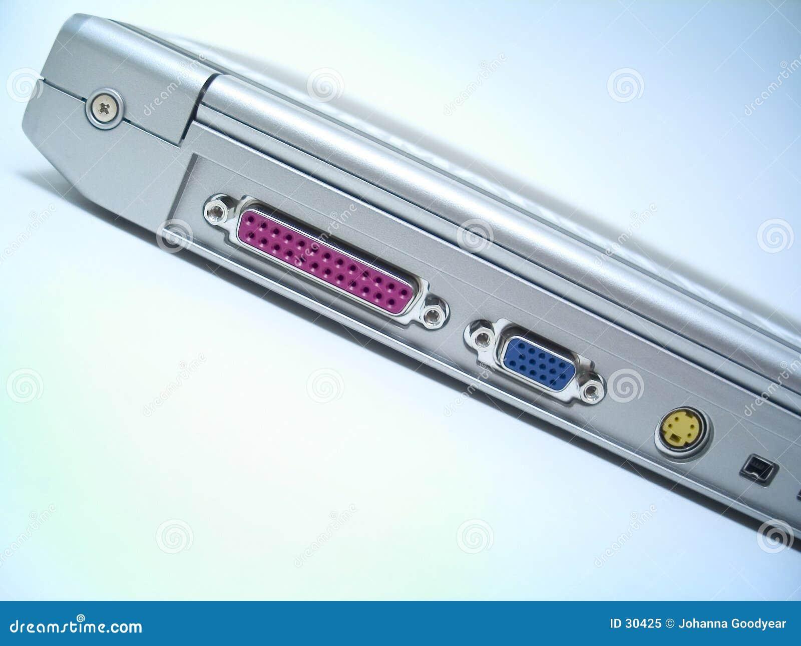 Parte posteriore del computer portatile