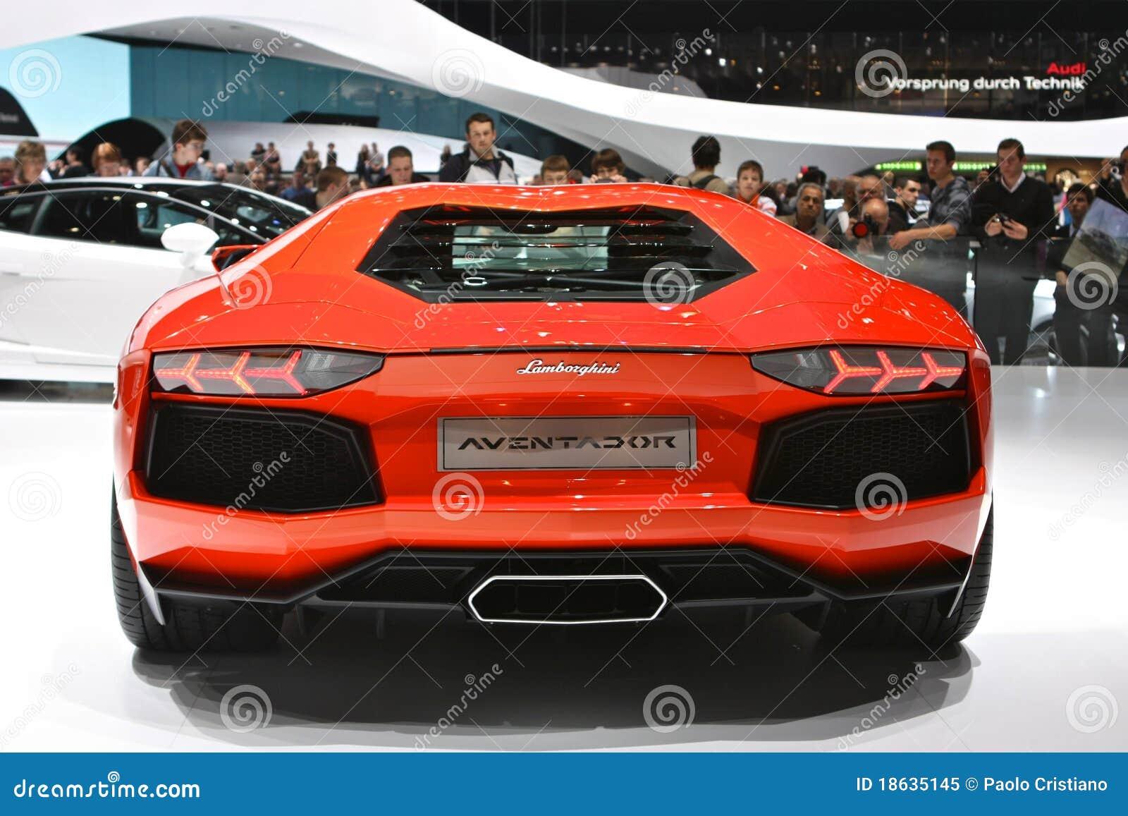 Parte Posteriore Di Lamborghini Aventador Immagine Editoriale