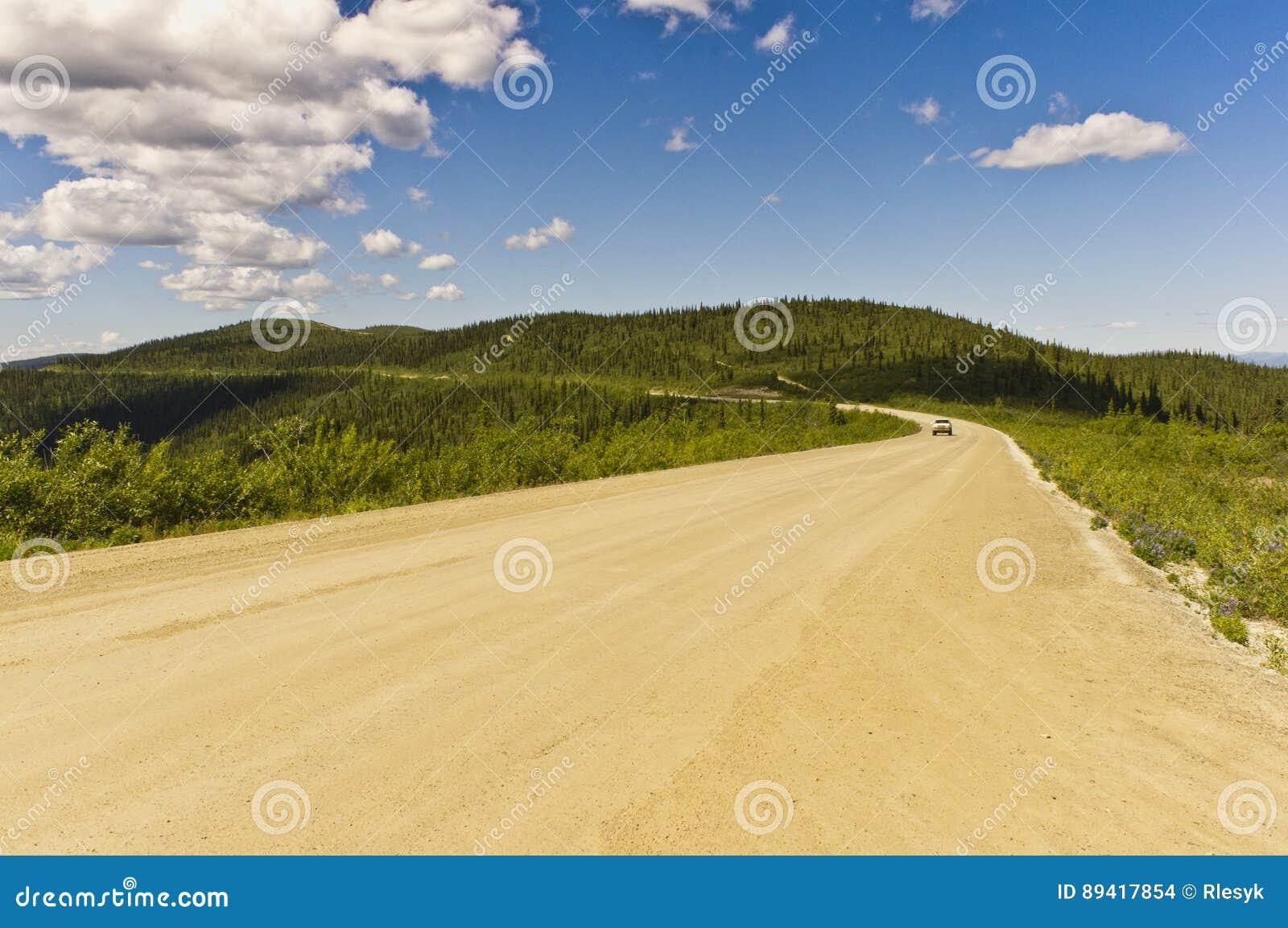 Parte superior da estrada do mundo