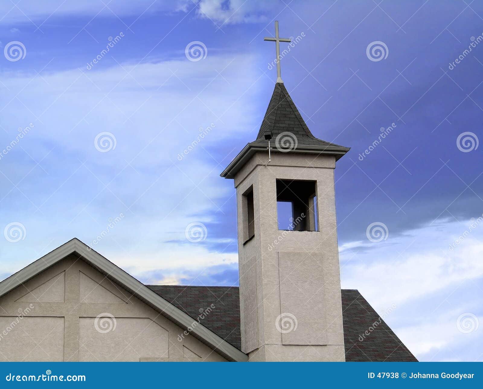 Parte superior da igreja