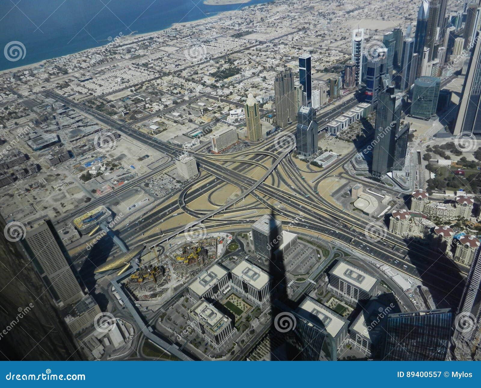 Parte superior do arranha-céus de Burj Khalifa