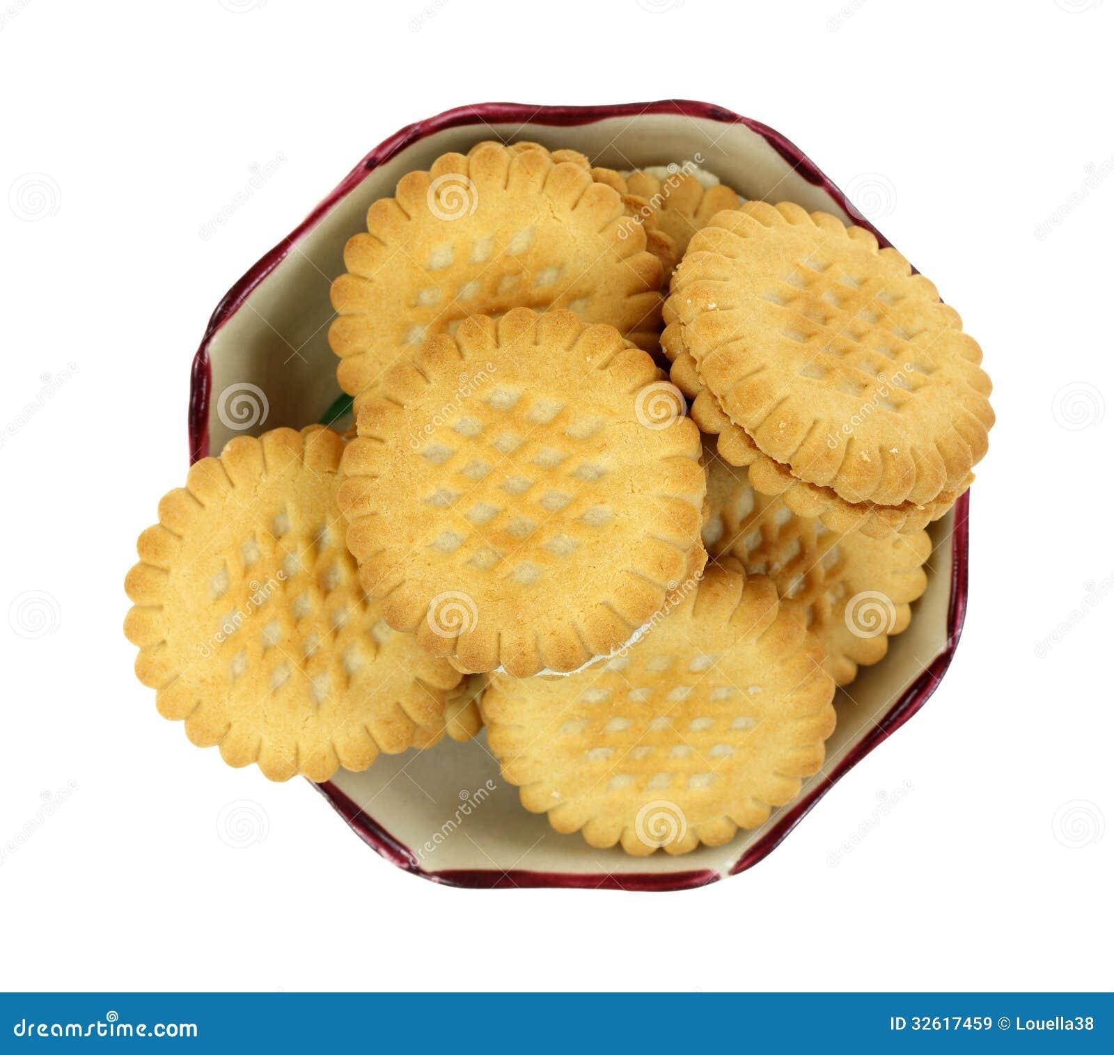 Parte superior enchida creme do prato dos biscoitos da banana