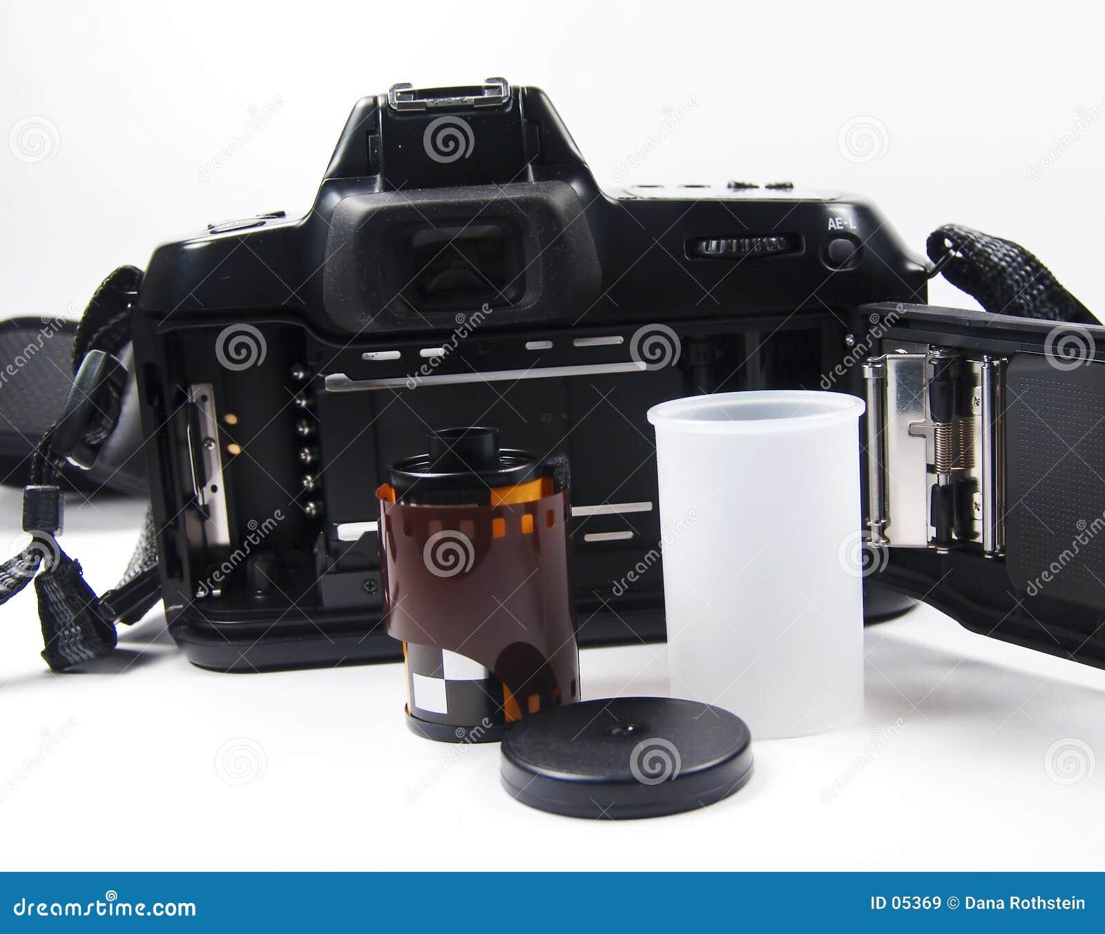 Parte traseira da câmera de 35mm
