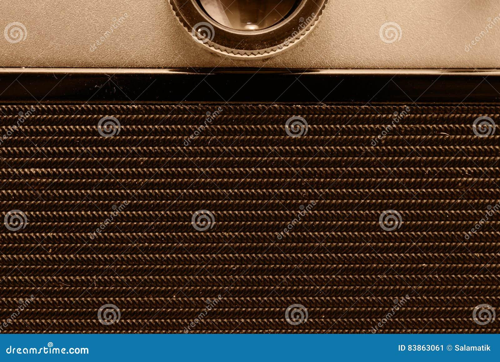 Parte traseira da câmera do filme Opinião do Close-up Macro Foto do vintage