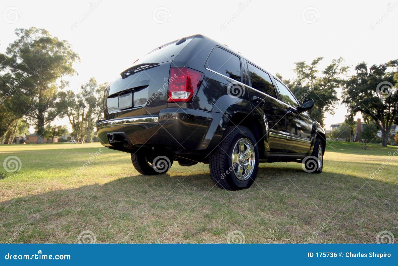 Parte trasera del jeep