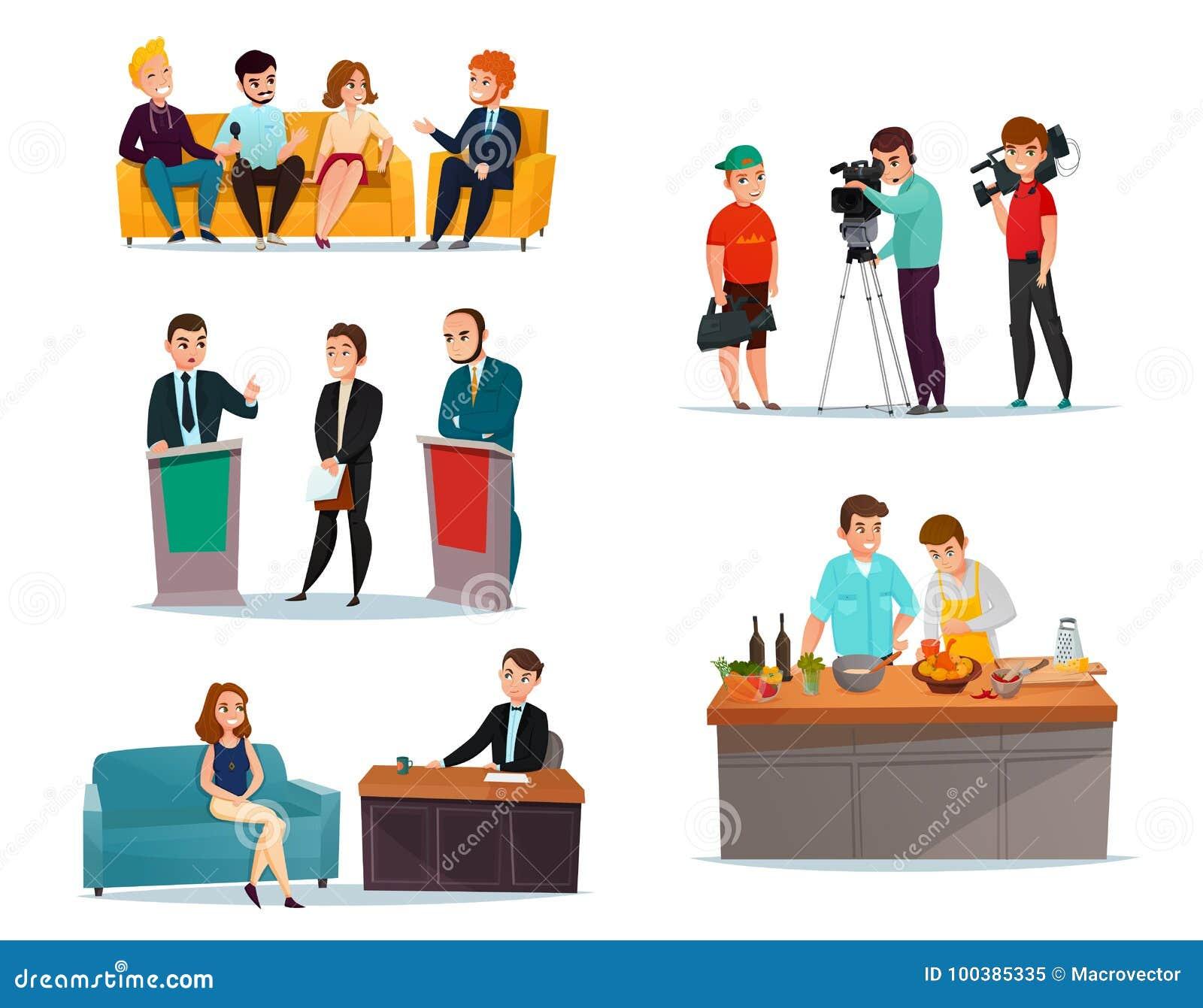 partecipanti del talk show messi illustrazione vettoriale - illustrazione  di emblema, celebrity: 100385335  dreamstime