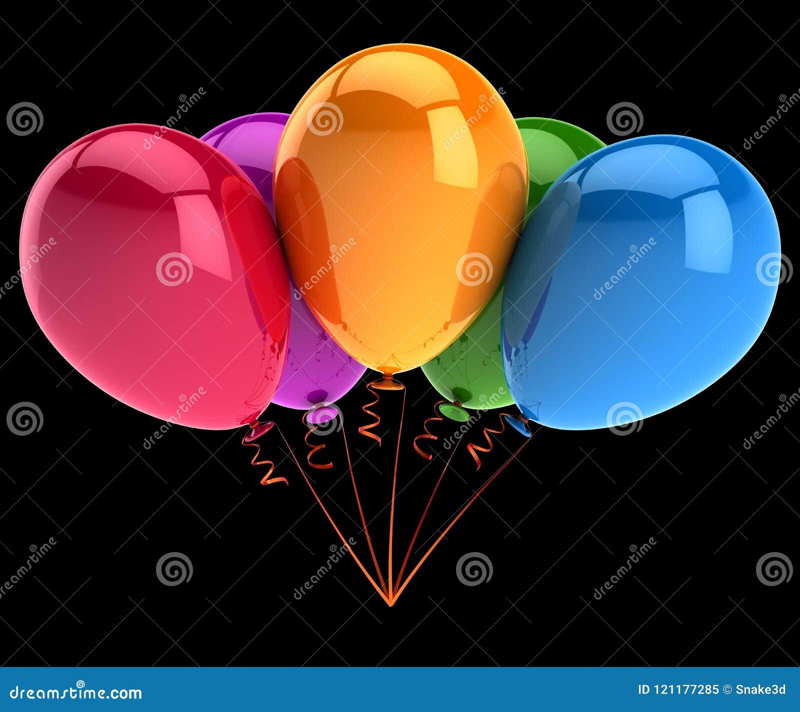 Partei steigt fünf 5 bunt im Ballon auf Geburtstag, feiern, Jahrestag
