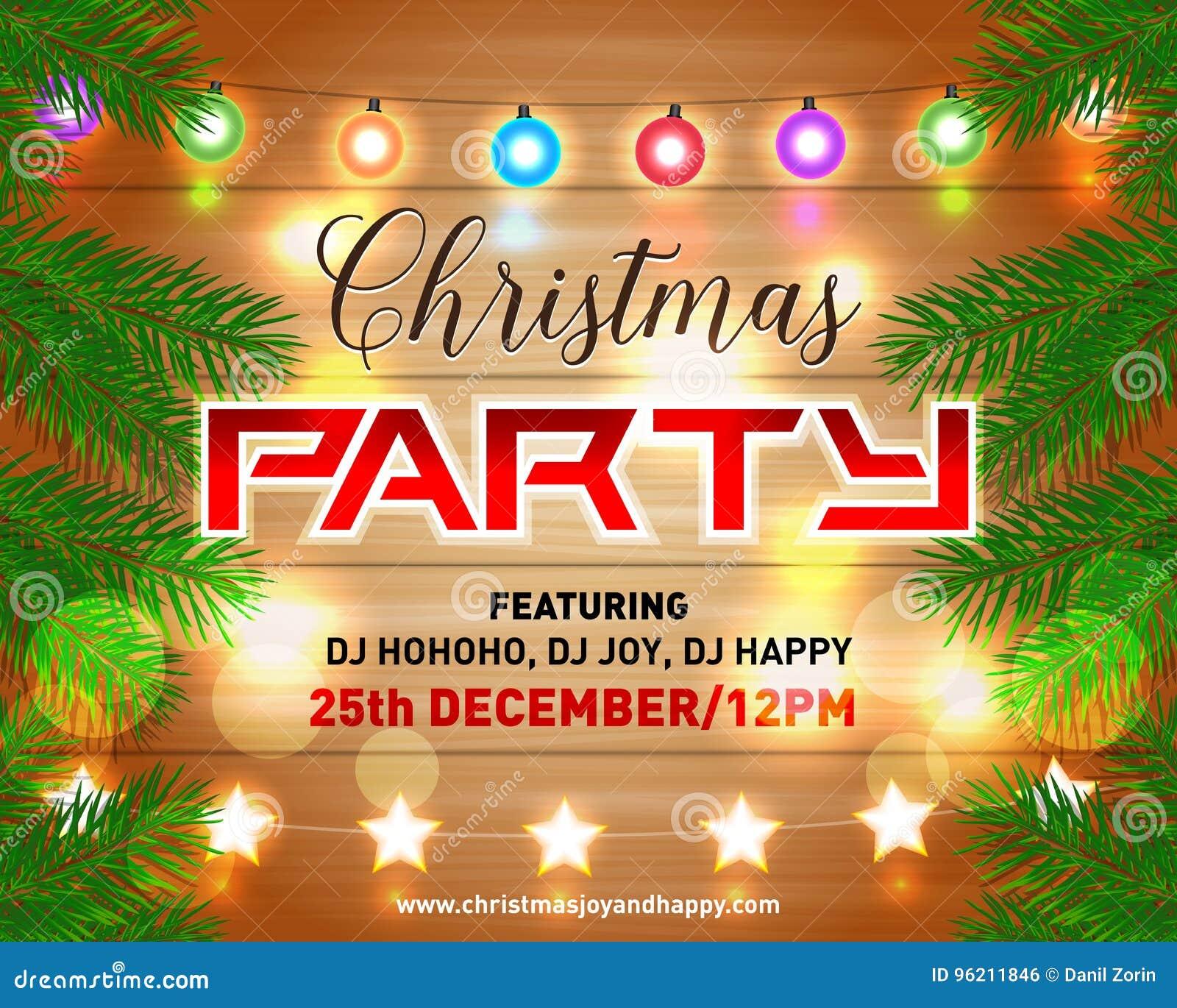 Parteiplakat der Heiligen Nacht, Einladung, Karte, Fliegervektorillustration Designschablonen-Vektorhintergrund der frohen Weihna