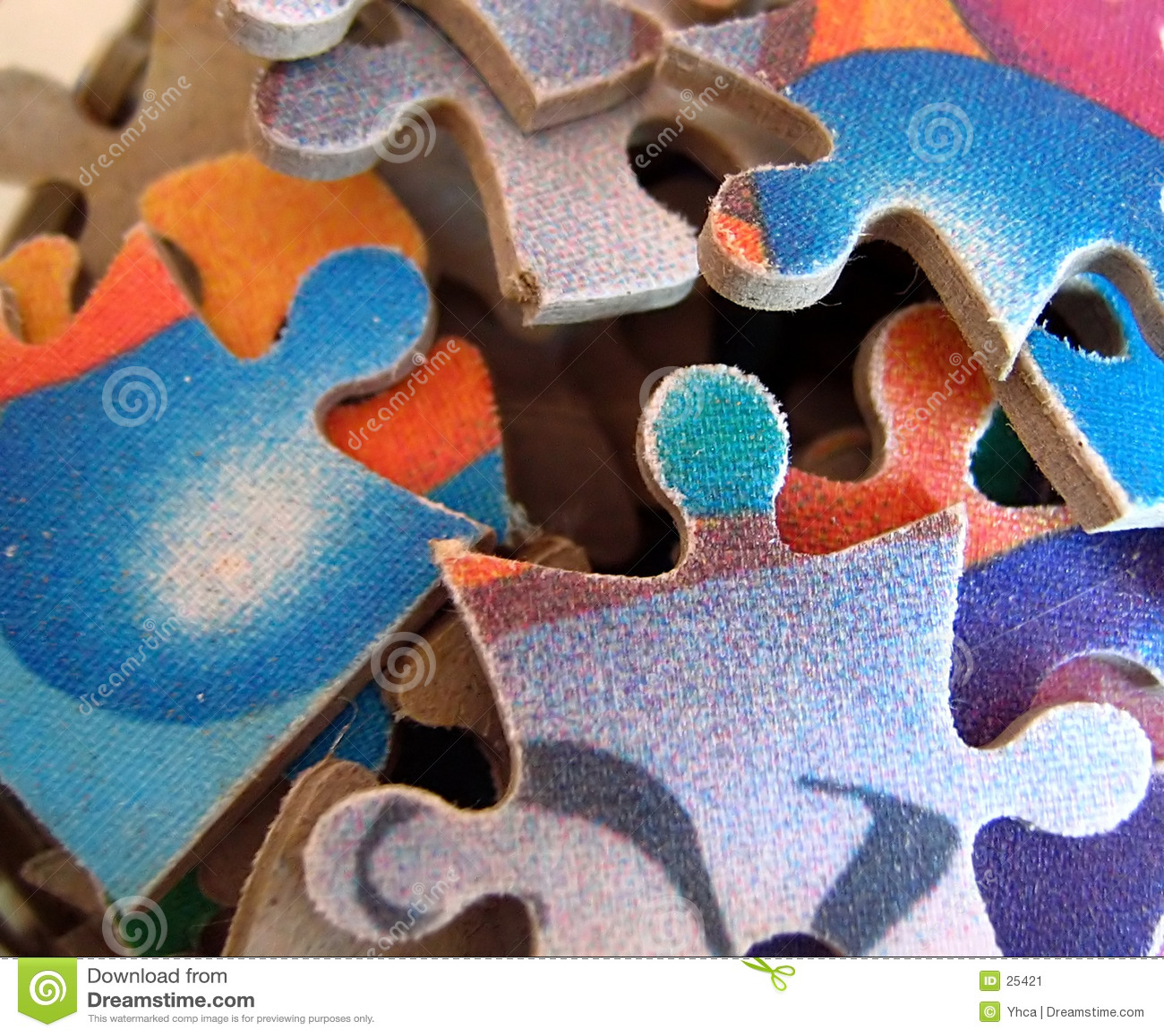 Partes coloridas do enigma de serra de vaivém
