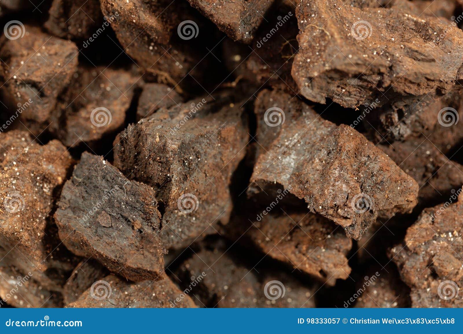 Partes de lignite ou de carvão marrom