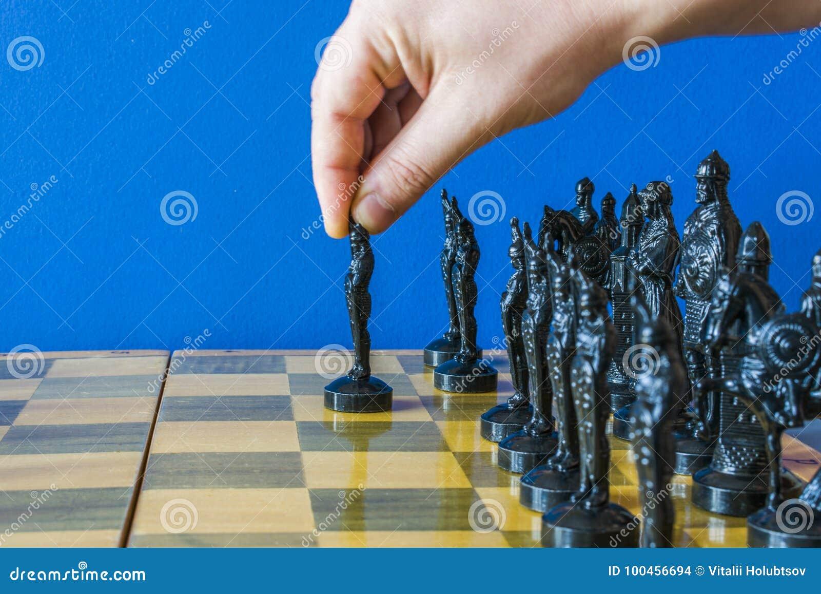 Partes de xadrez na placa