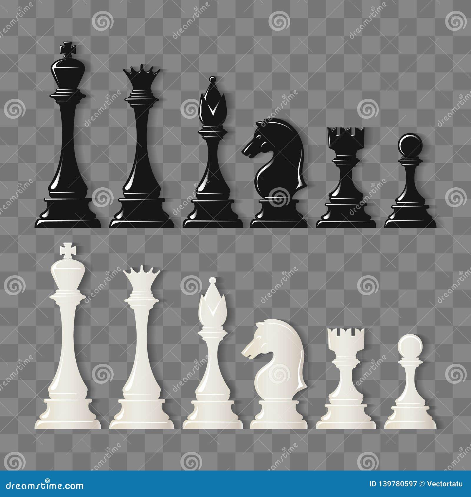 Partes do Checkmate em transparente