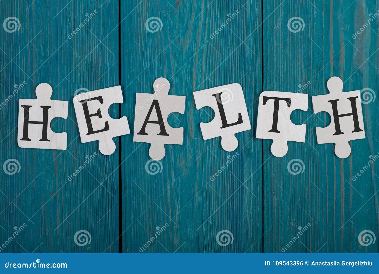 Partes do enigma com palavra & x22; Health& x22;