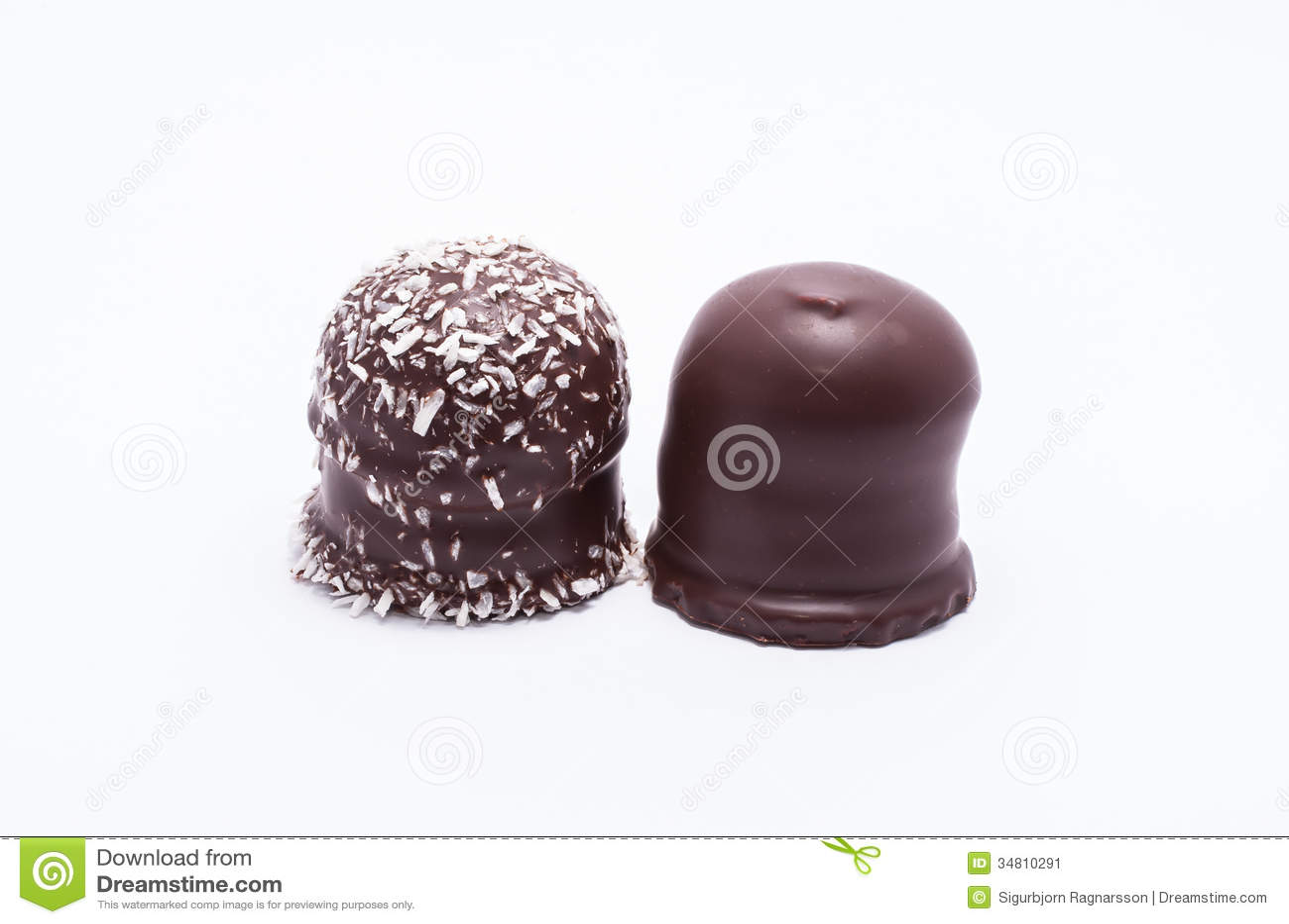 Partes superiores do chocolate