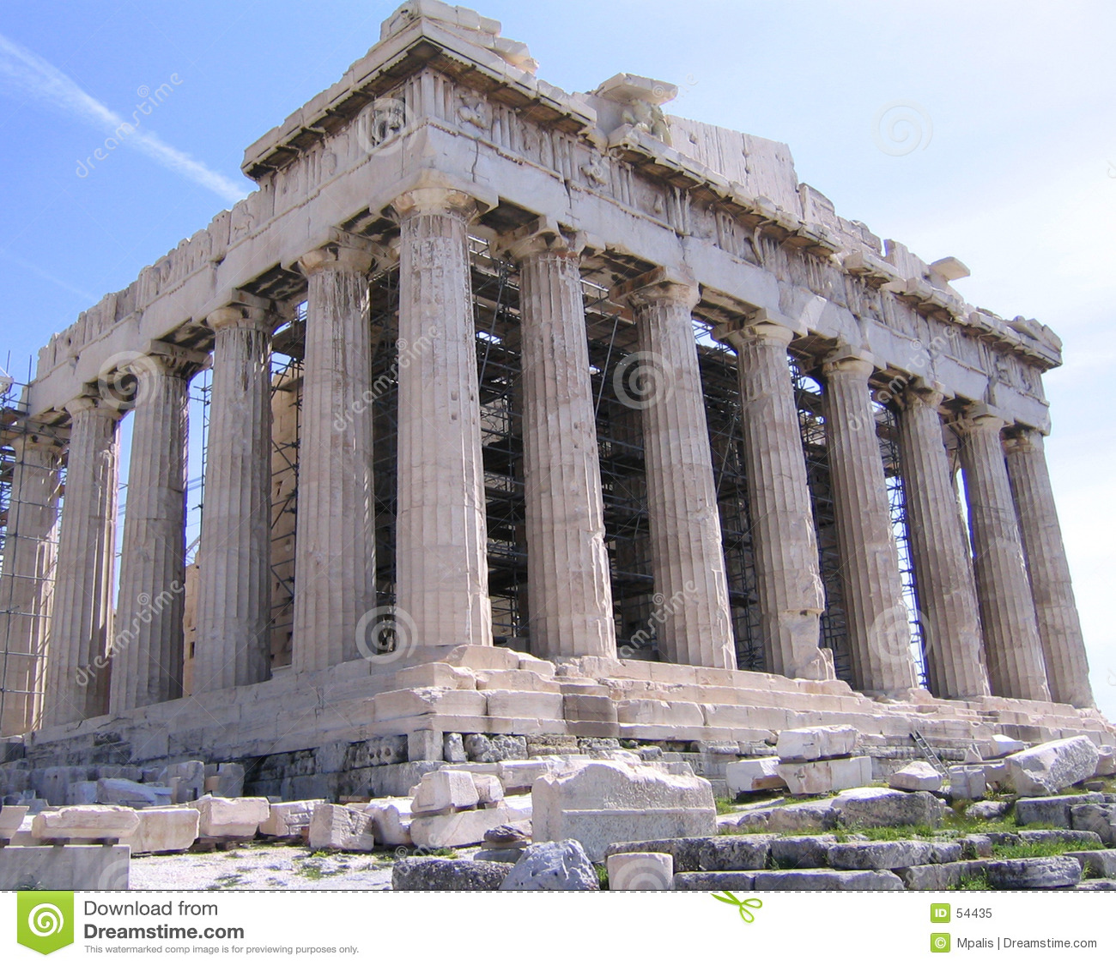 Download Parthenon à l'Acropole image stock. Image du côte, proportions - 54435