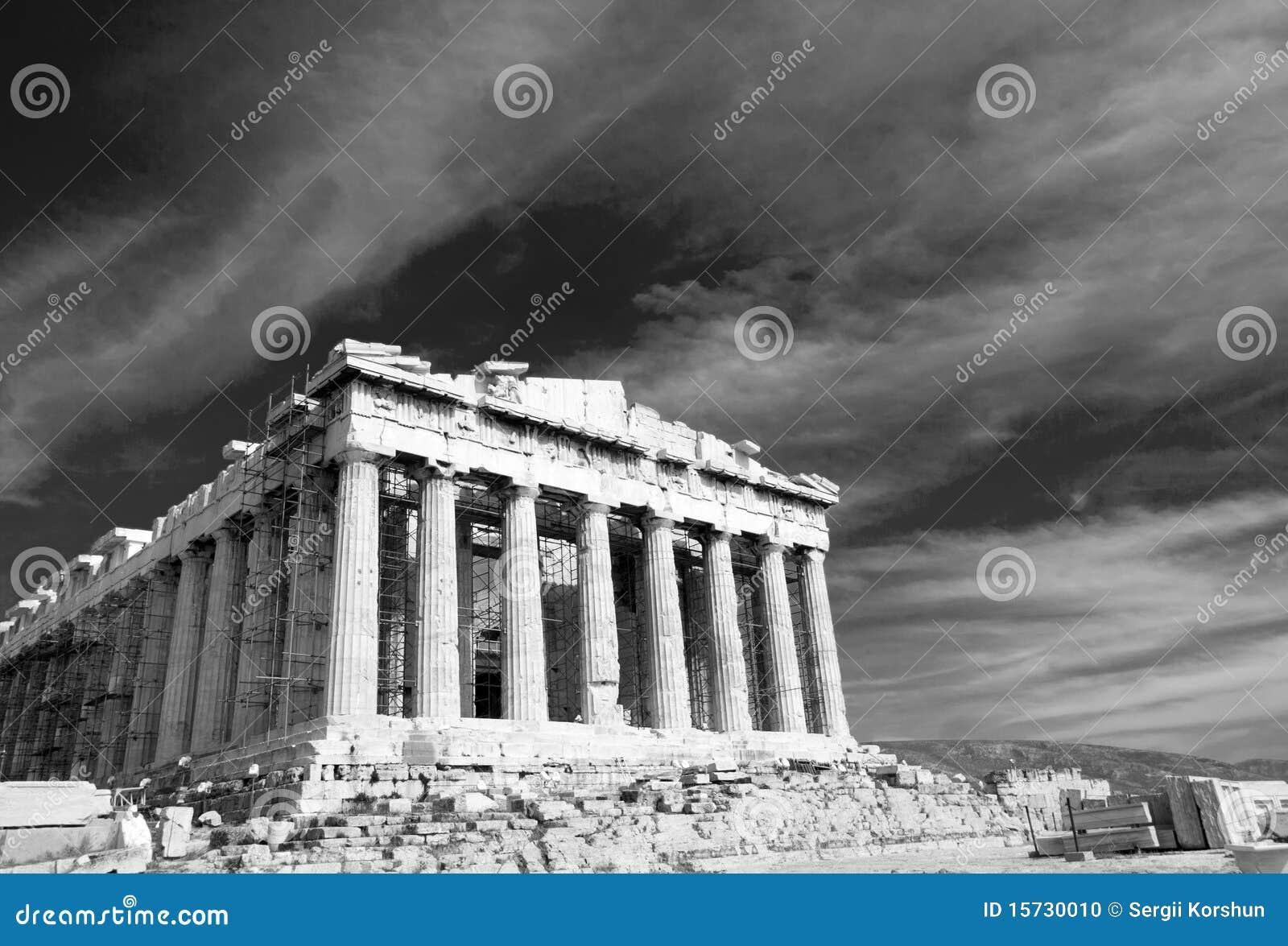 Parthenon antique dans l Acropole Athènes Grèce