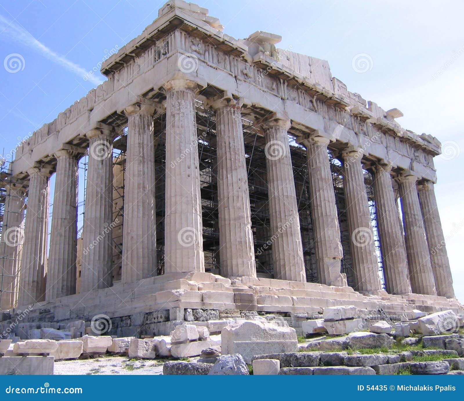 Parthenon en la acrópolis