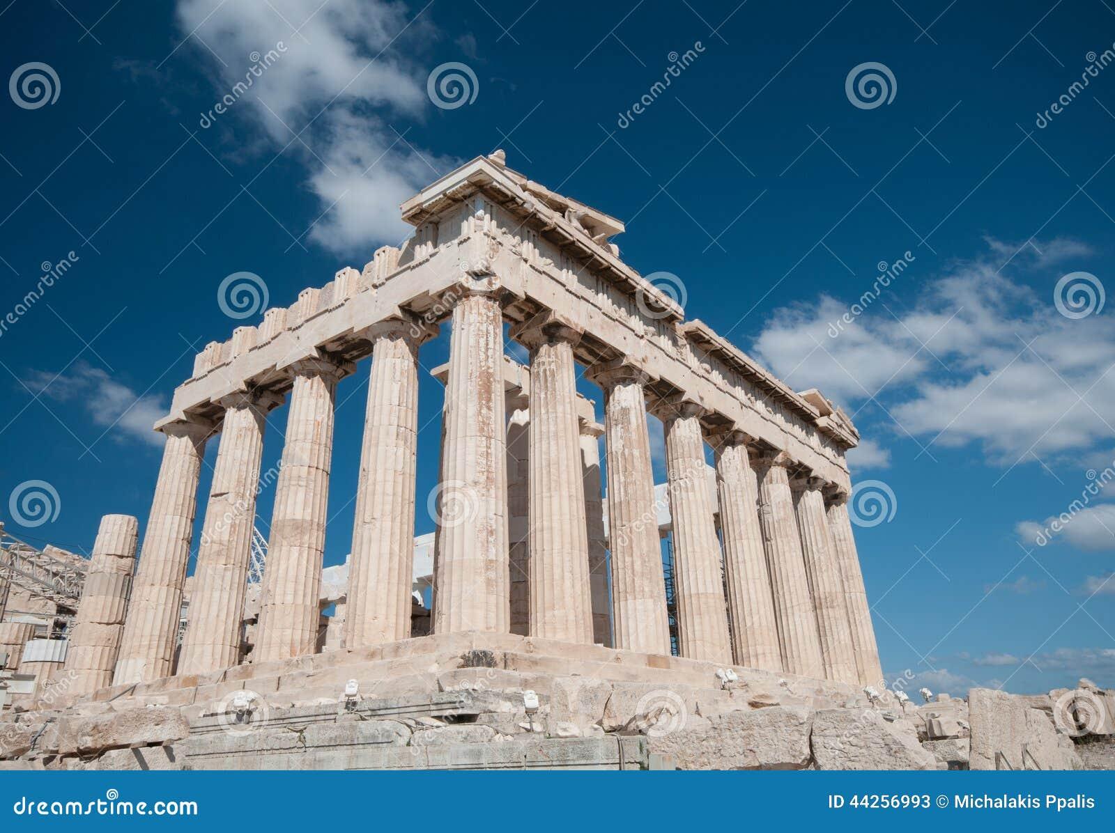 Parthenon en la colina de la acrópolis, Atenas