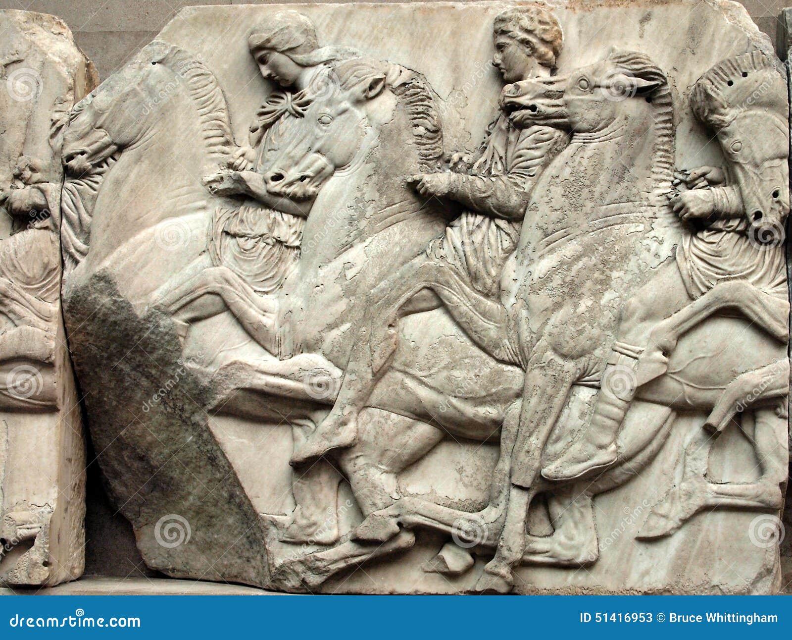 Parthenon Frieze Elgin Marbles Editorial Stock Photo