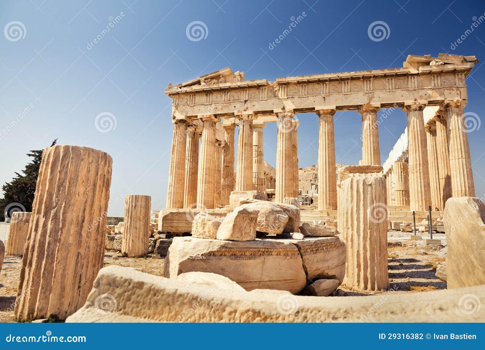 Parthenon na akropolu w Ateny