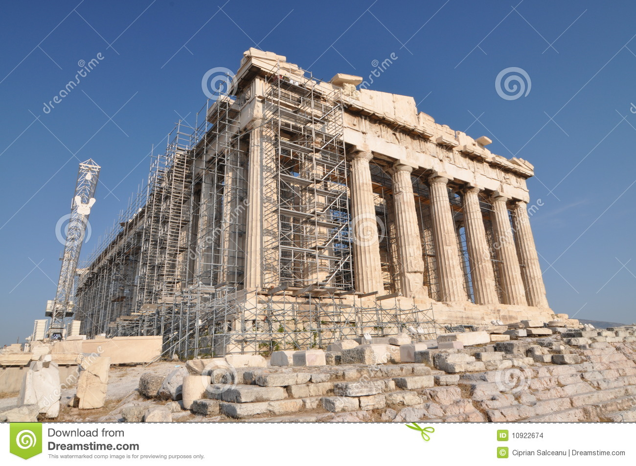 Parthenon In Reconstruction Stock Images - Image: 10922674