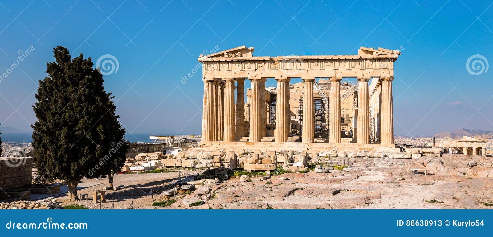 Parthenontempel, Akropolis in Athene, Griekenland