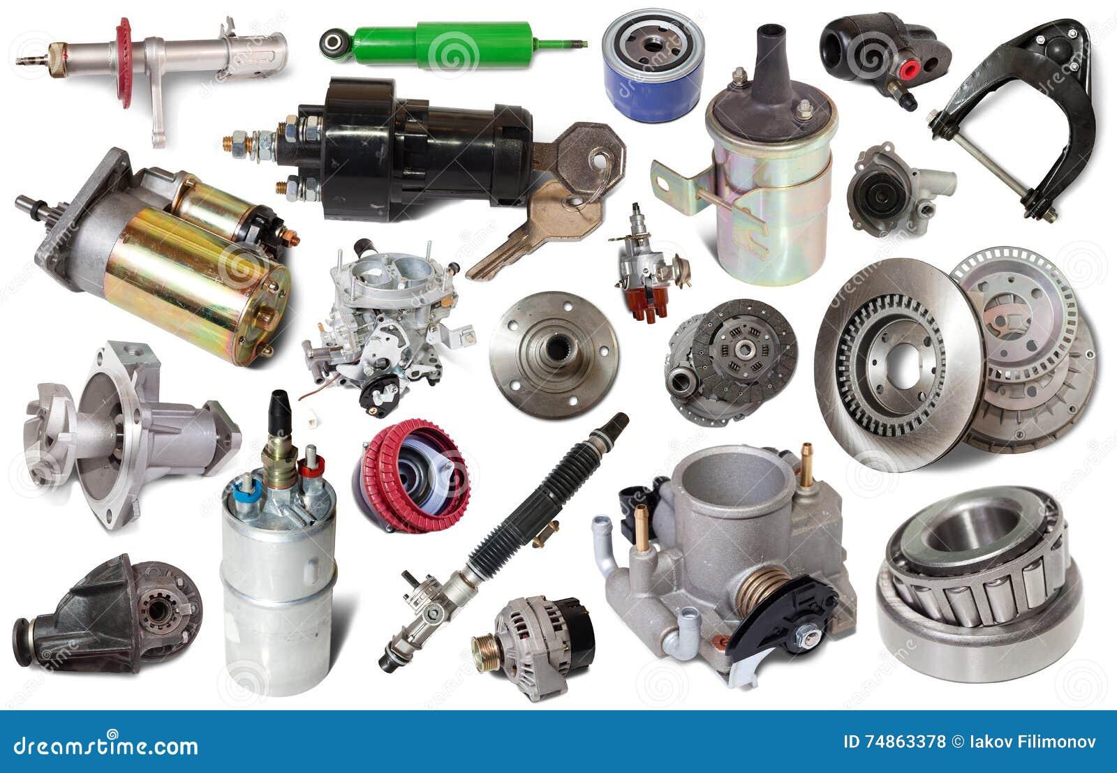 Parti Di Riparazione Dell Automobile Isolate Fotografia Stock Immagine Di Cantilever Meccanico 74863378
