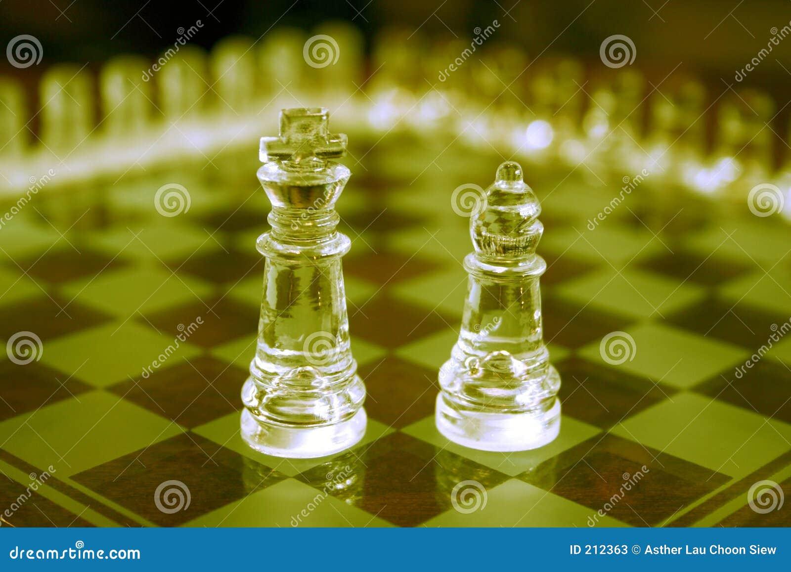 Parti di scacchi di vetro