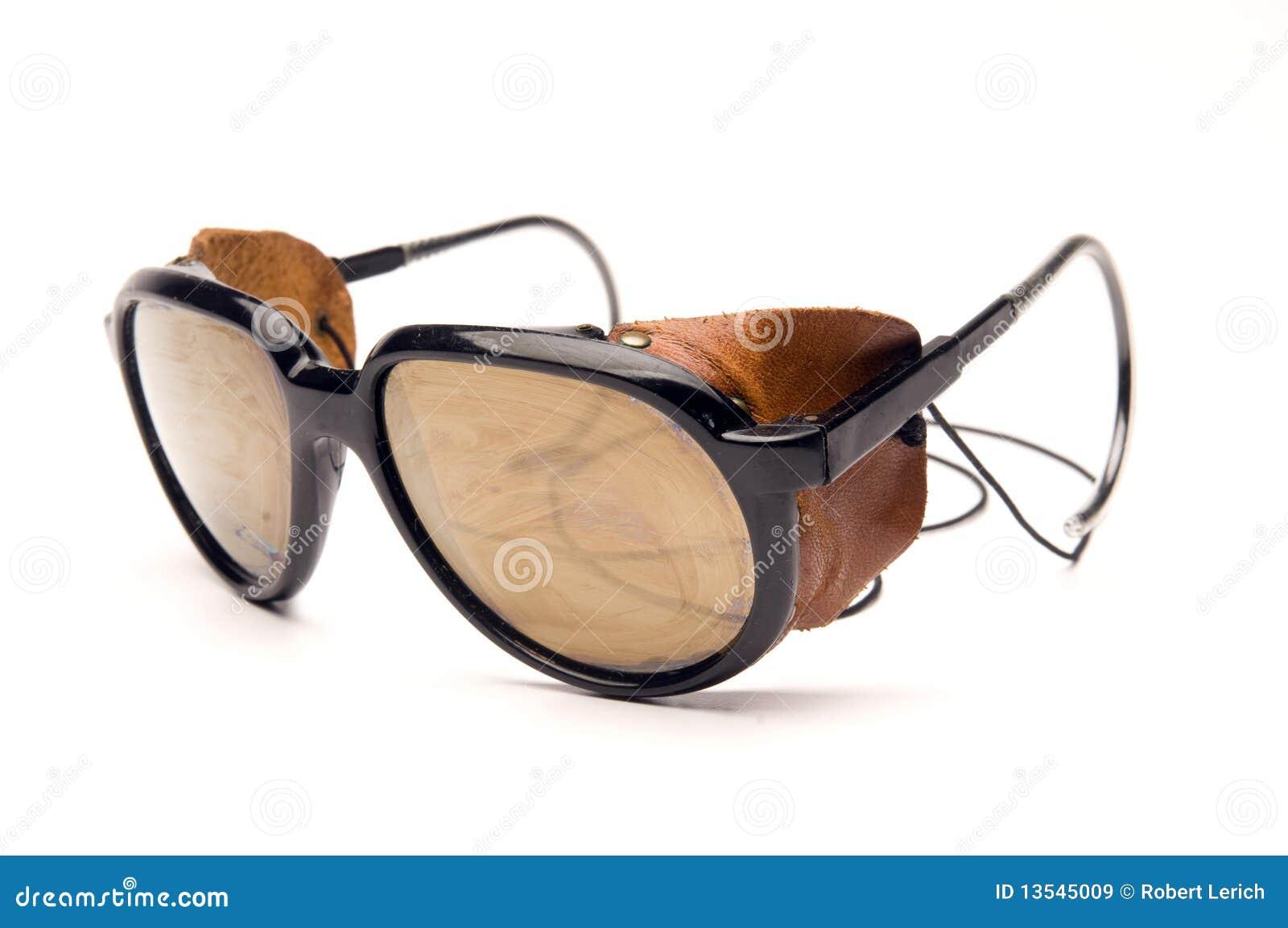 Parti Laterali Di Cuoio Degli Occhiali Da Sole Del