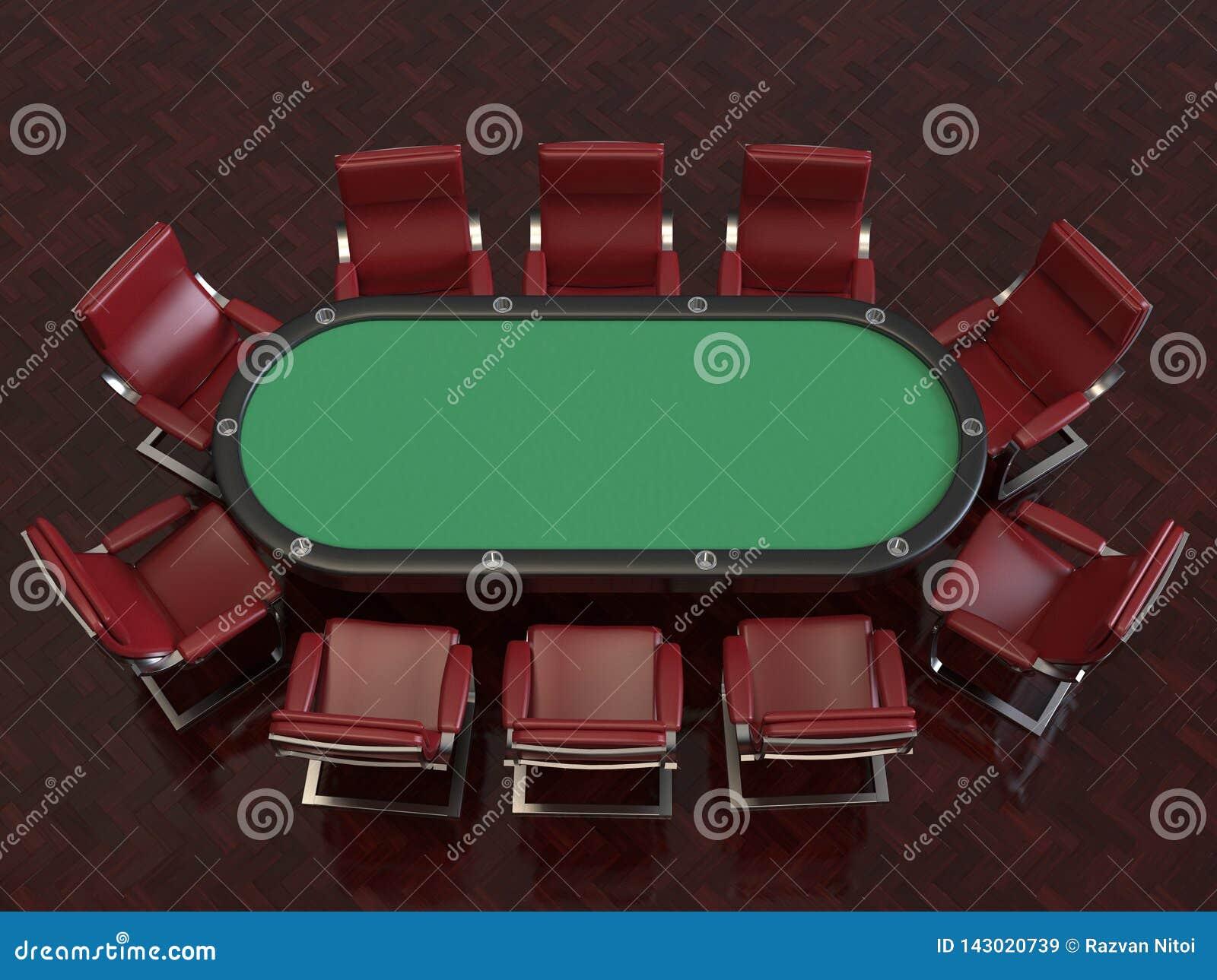 Partia pokera profesjonalisty filc krzes?a i st??