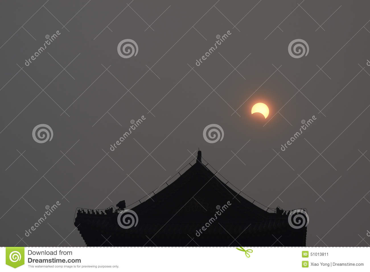 A partial solar eclipse over the sky stock photo image - Eclipse architects ...