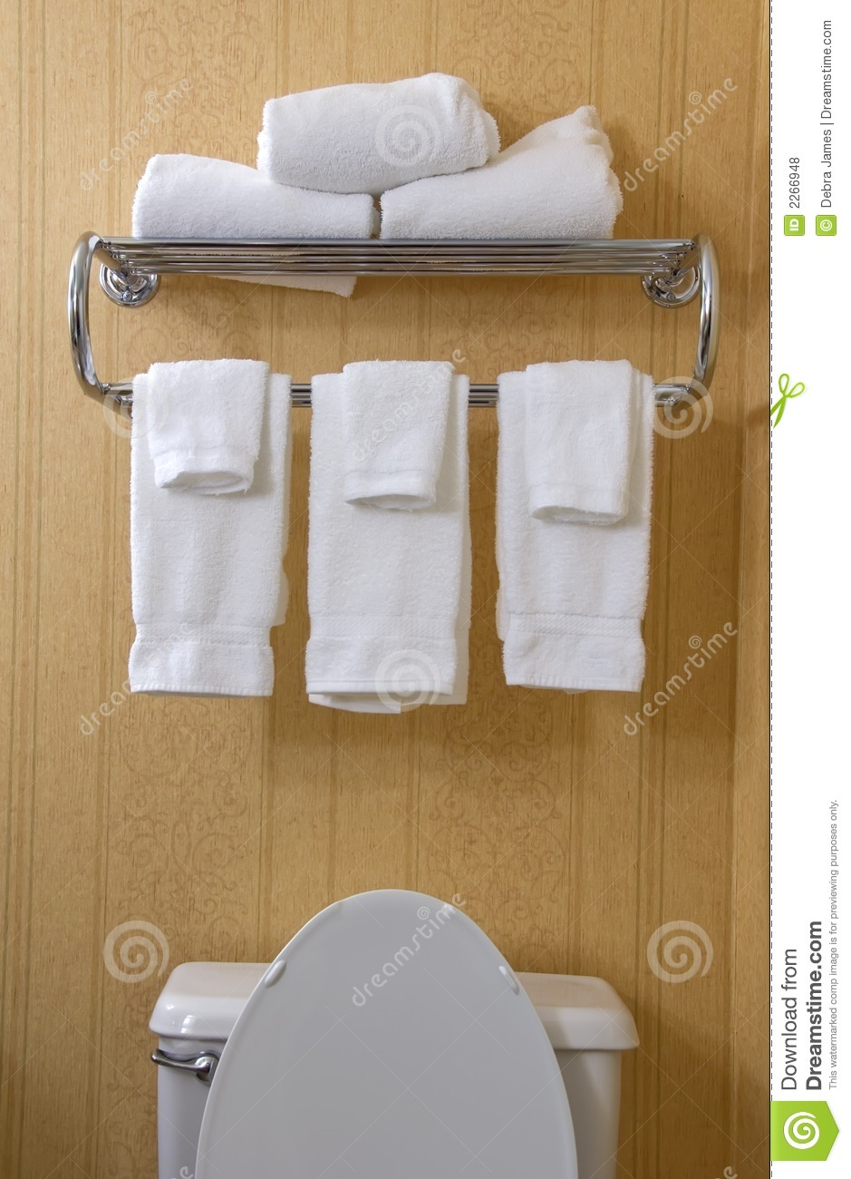 Partial Toilet And Towel Rack Stock Photo Image Of Towel