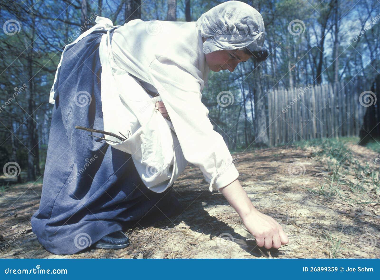 Participante que trabalha no jardim