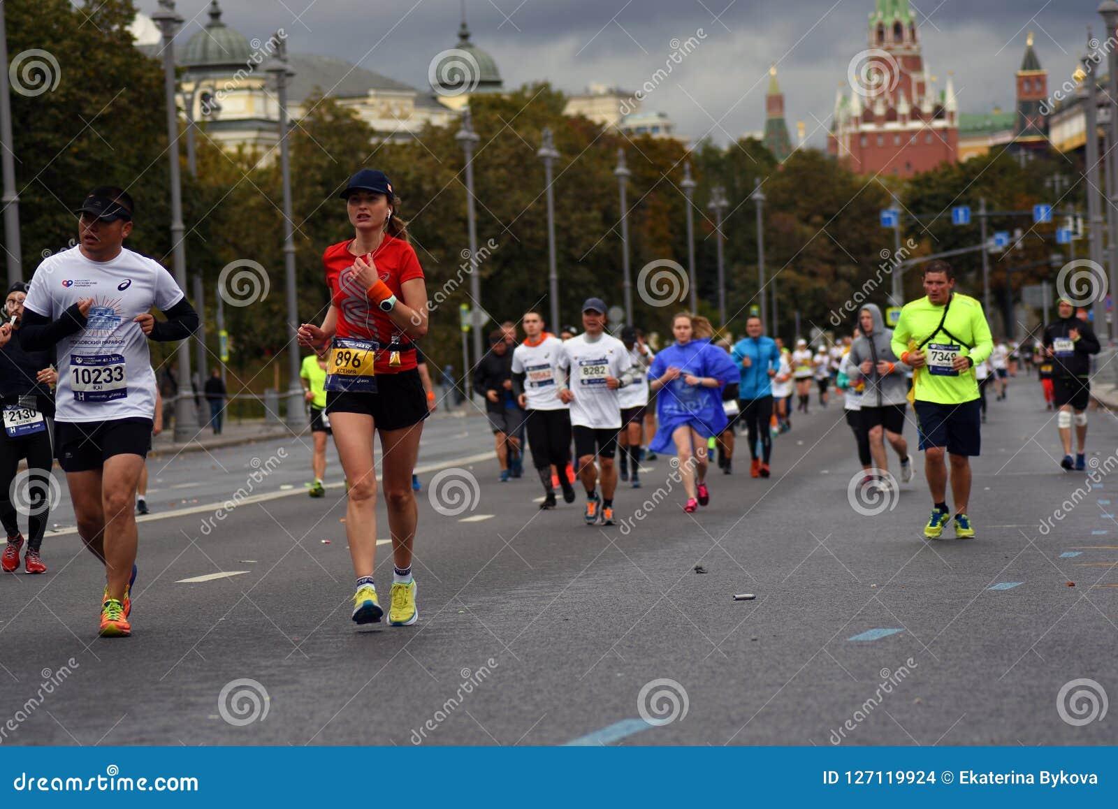 Participants de marathon de 6 Moscou