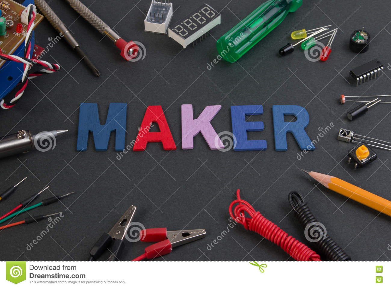 Awesome Particle Maker Kit Electronics Project Maker Kit Stock Image Wiring 101 Photwellnesstrialsorg
