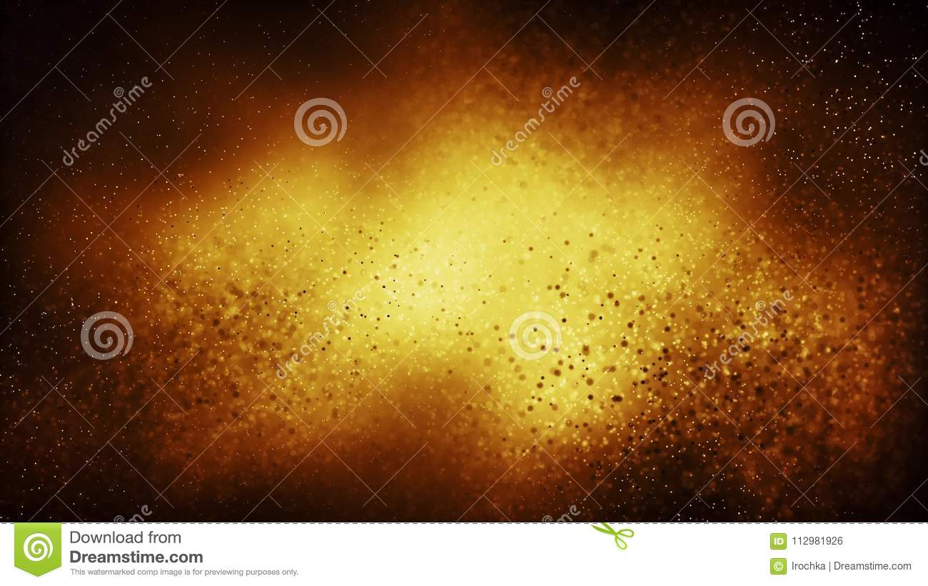 Particle seamless background on gold festive concept.