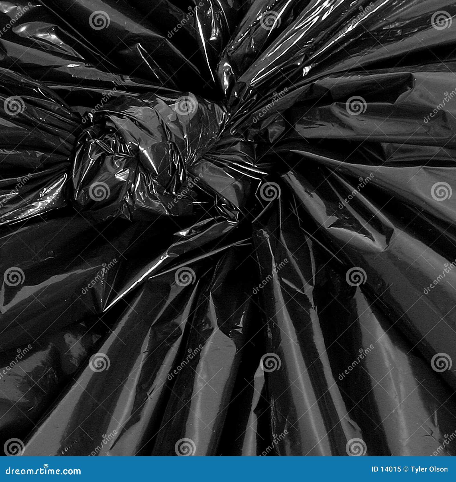Particolare del sacchetto di immondizia