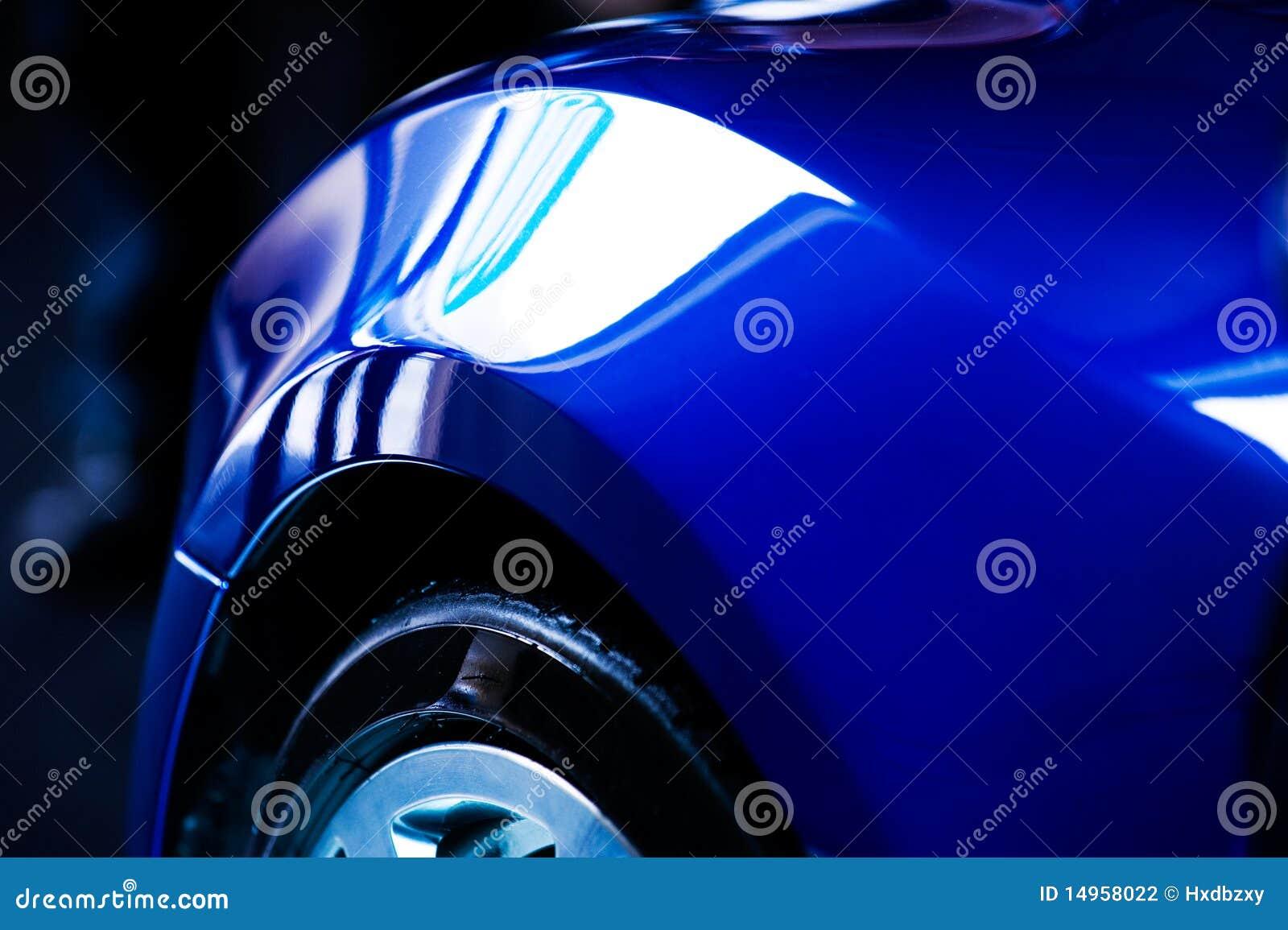 Particolare dell automobile blu