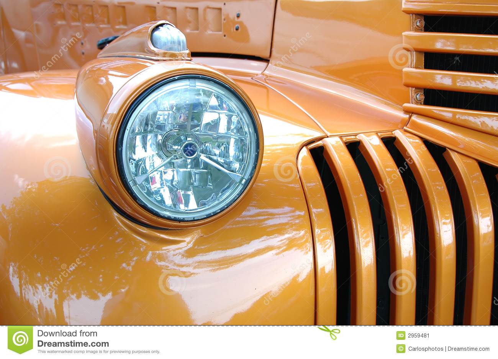 Particolare dell automobile dell annata
