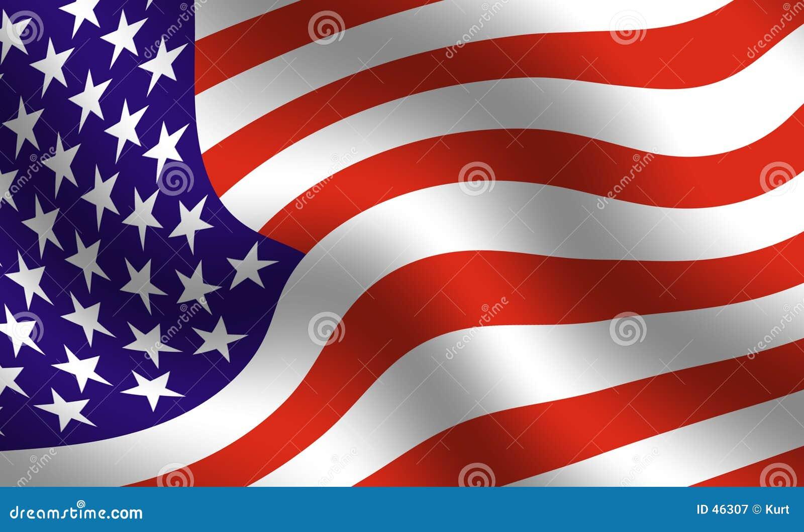 Particolare della bandiera americana