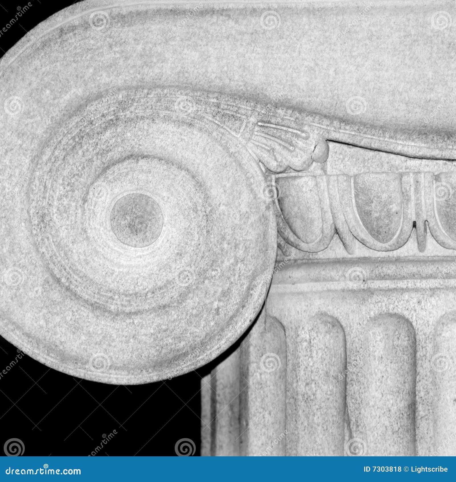 Particolare della colonna