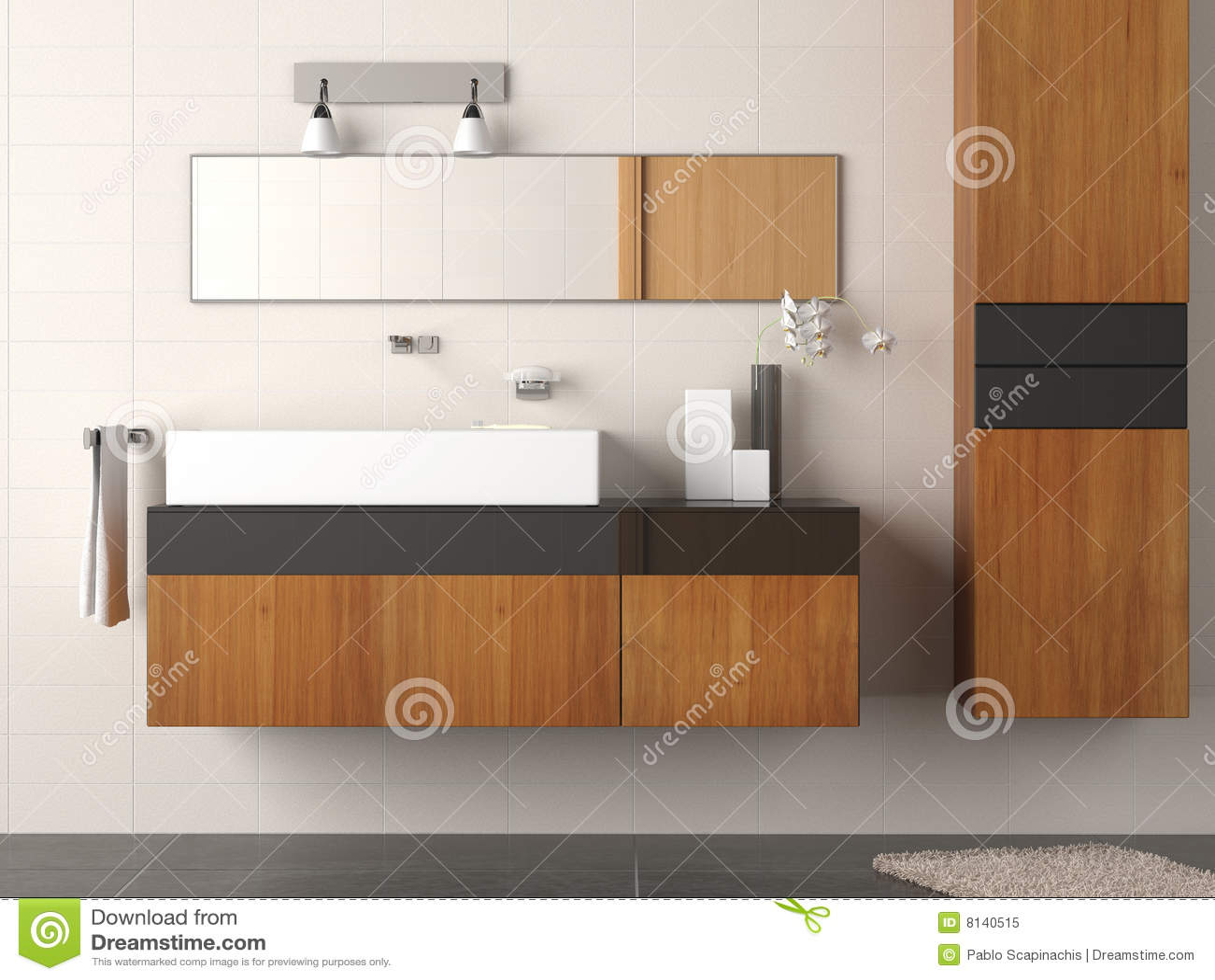 Particolare della stanza da bagno moderno