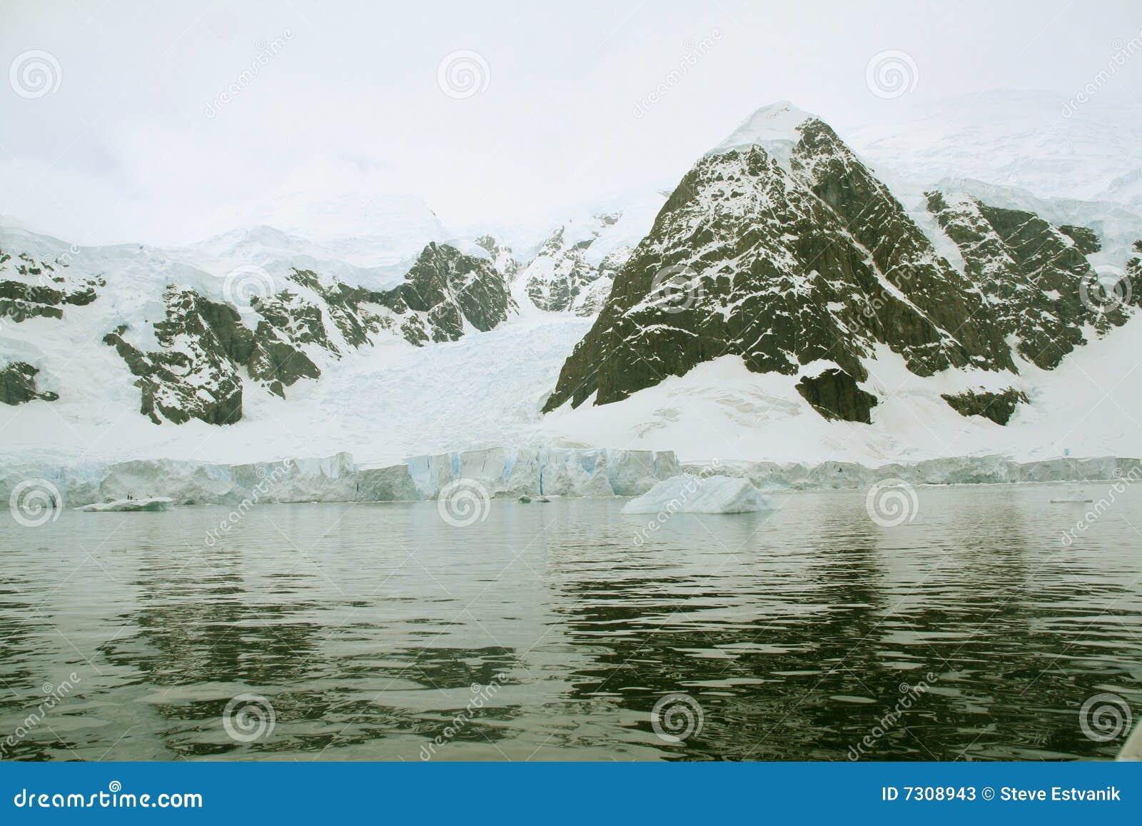 Particolare, ghiacciaio che scorre nell oceano