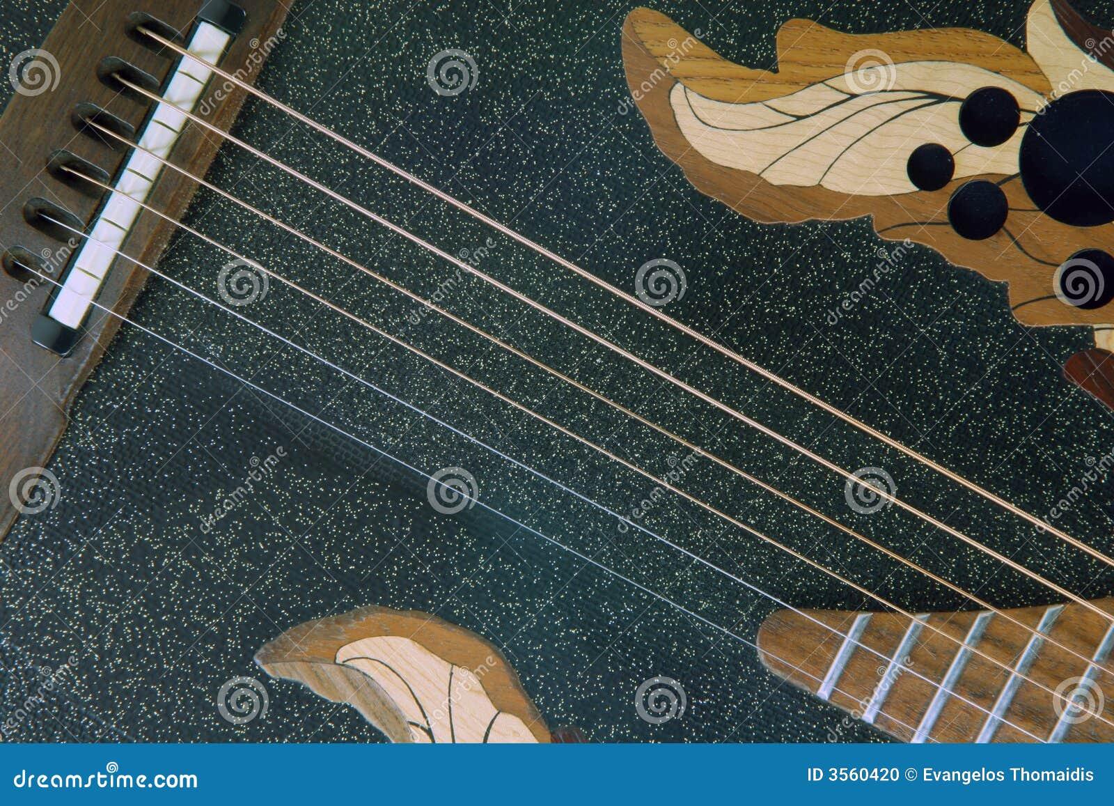 Particolare nero della chitarra