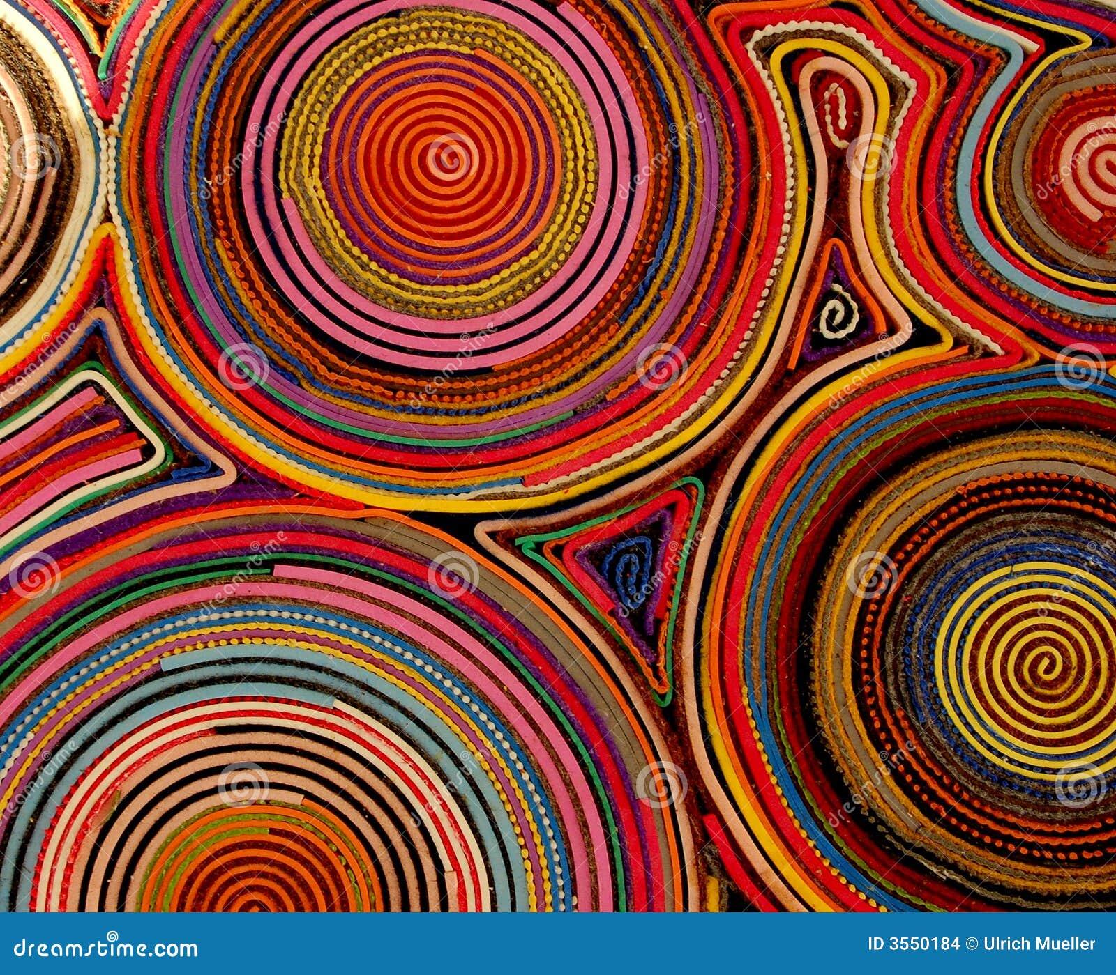 Particolari Colourful di una moquette
