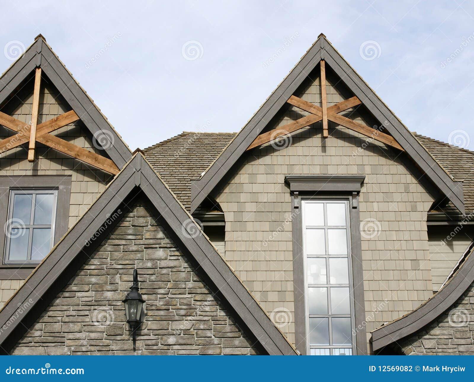 Particolari esterni domestici del tetto