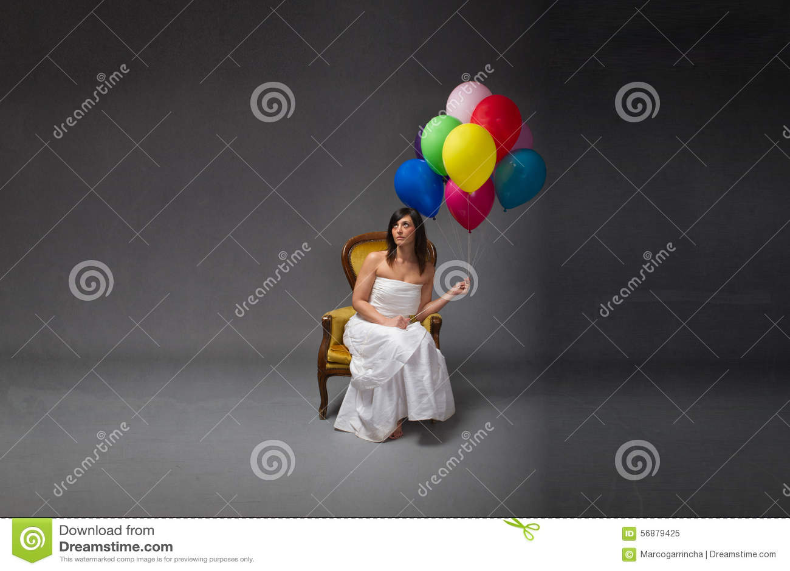Partido da noiva com balão disponível