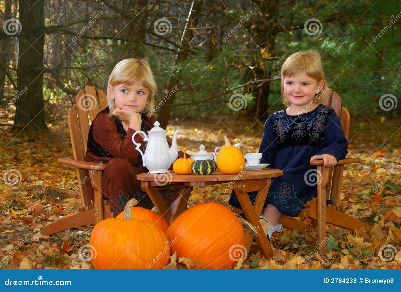 Partido de chá ao ar livre