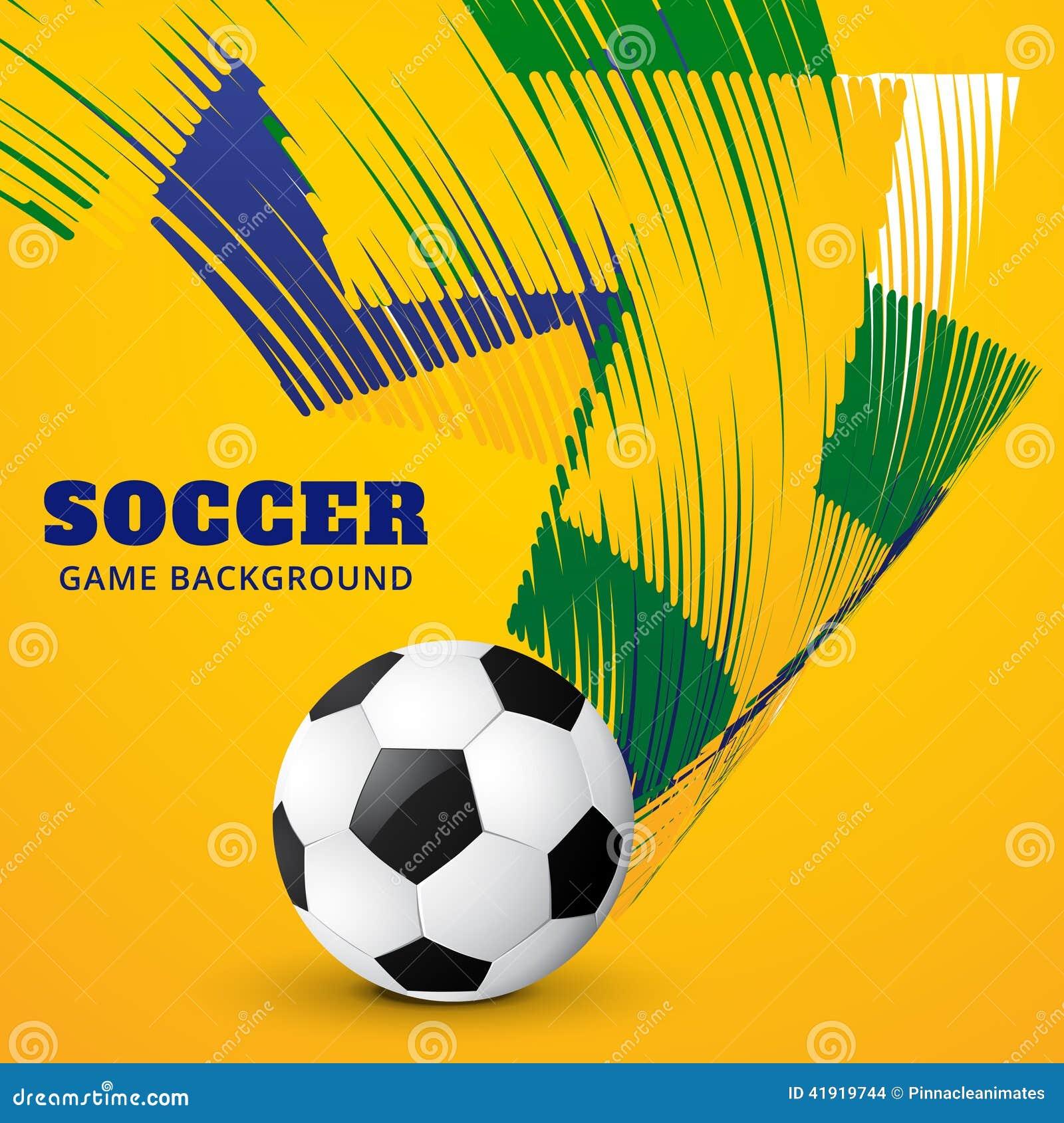 Partido de fútbol del vector